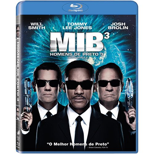 Blu-ray Homens de Preto [ Men in Black Trilogy ] [ MIB 1 + MIB 2 + MIB 3-D ] [ [ Region ALL ] [ Brazilian Edition ]