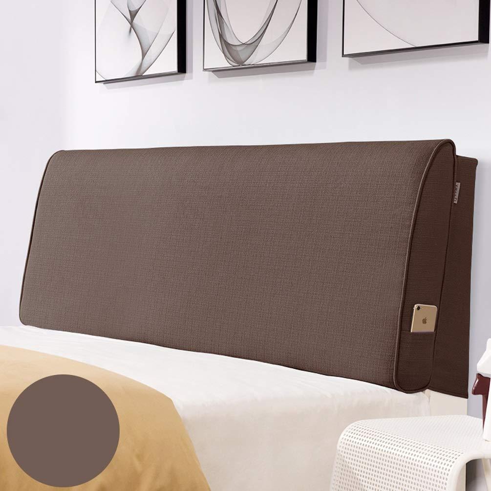 ベッド壁クッション布張りパッドウェッジ背もたれサポートソフトラージピローカバー取り外し可能、ベッド用ヘッドボードなし綿ベッドヘッドクッションベッド (Color : A, Size : With headboard-90cm) B07TFT2D2X A With headboard-90cm