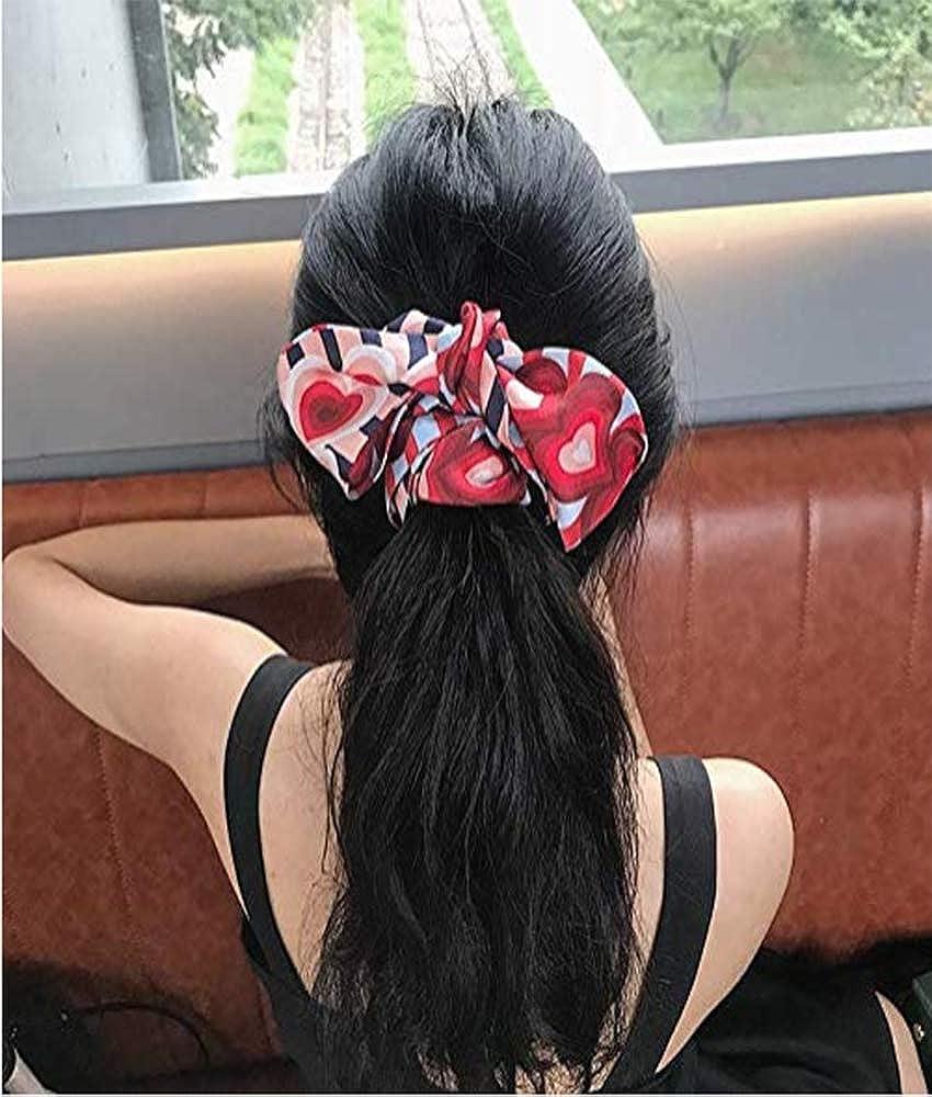 Gwill Womens Heart Print Silk Skinny Scarf//Choker Neck Scarf Tie//Silk Ribbon Sash Wedding Sash Bridal Belt Handbag Handle Ribbon Valentines Gift