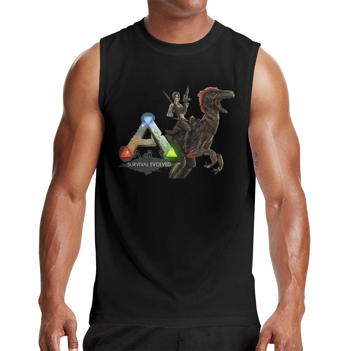 Thomlarryca Ark Survival Evolved S Gym Muscle T Shirt Classic Athletic Sleeveless T Sh