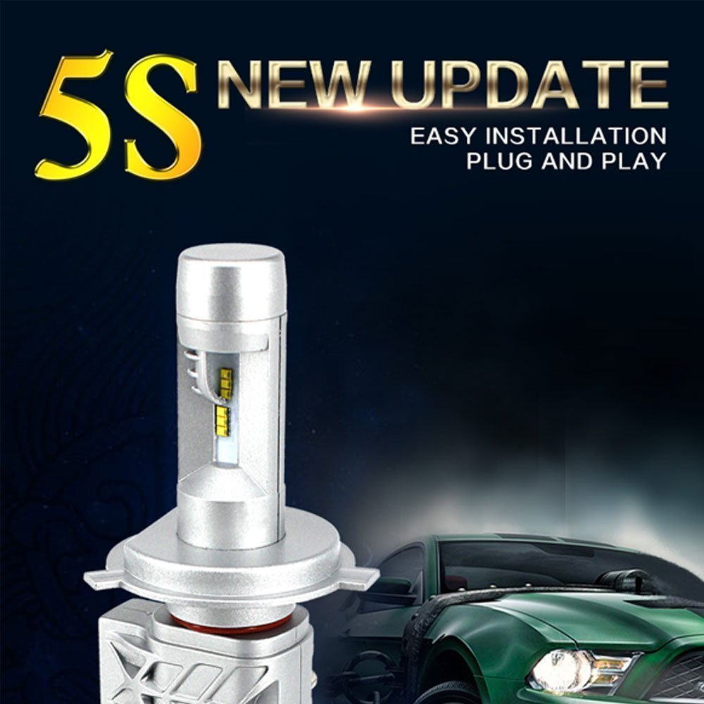 2017 Led Headlight Bulbs Kit 9012 44w 6500k 8000lm High Or