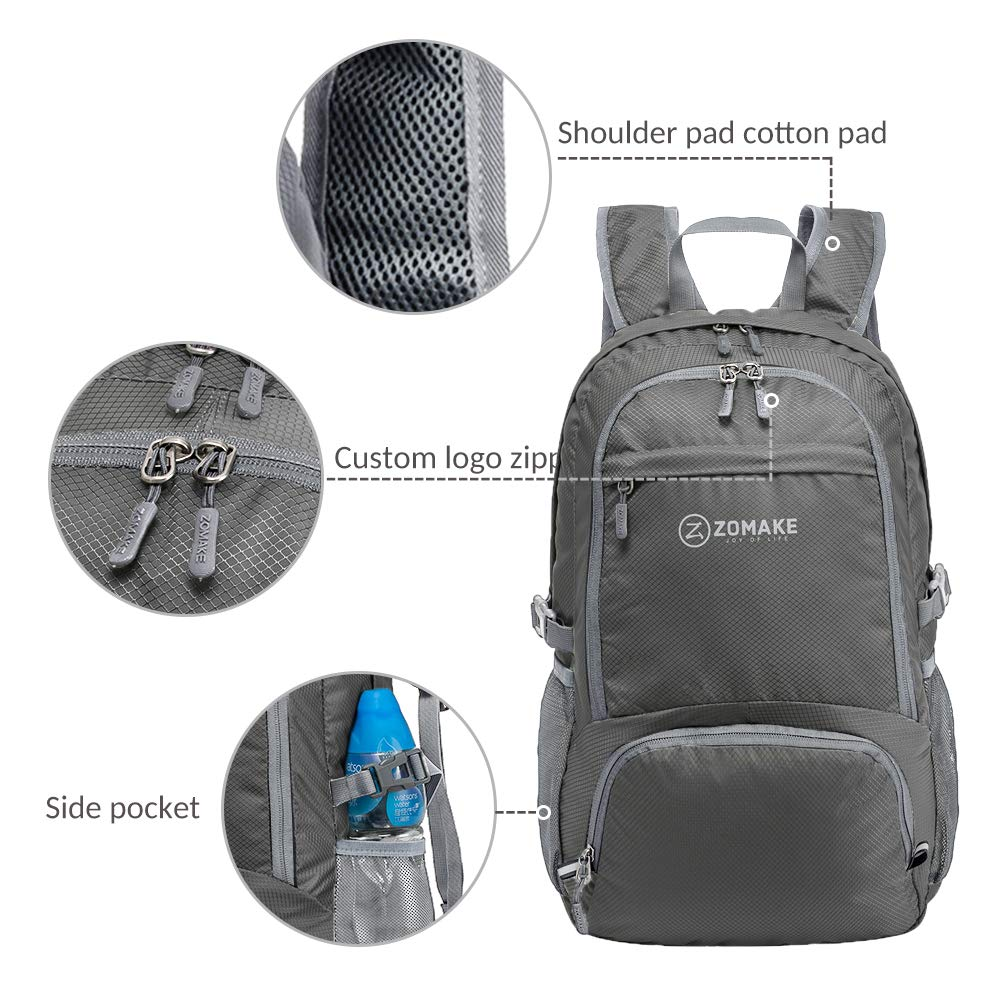 0aa7449d6fcf ZOMAKE 30L Lightweight Packable Backpack Water Resistant Hiking  Daypack
