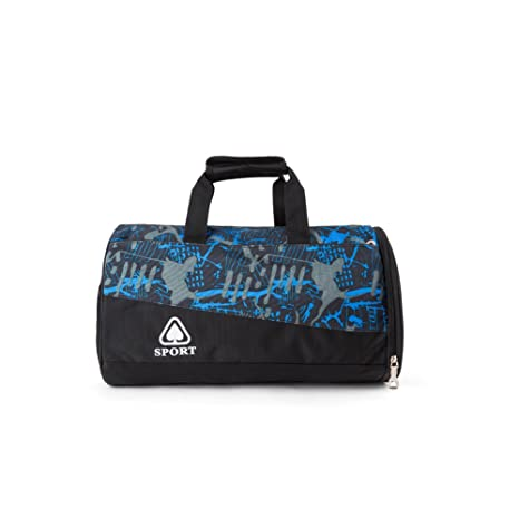 ... Blue Sports Duffel (Barrel Gym  new style 32fa6 907c8 Stylish  Lightweight Sports Gym Bag with Shoes Compartment, Water Resistant Travel  ... 1eab13fe4f