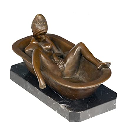 Delicieux Toperkin Erotic Statue Home Decor Bathing Naked Woman Bronze Sculptures  Statues TPY 616