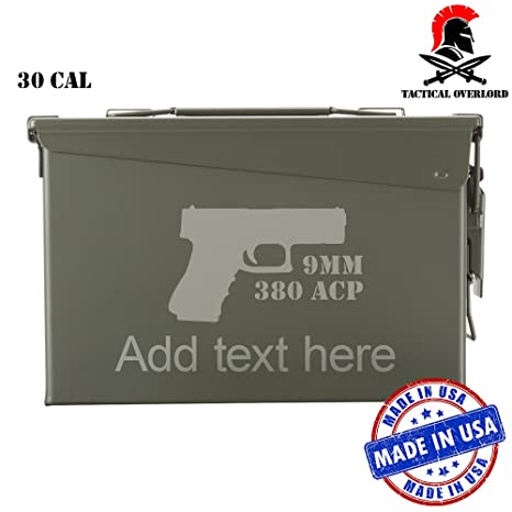 Amazoncom Tactical Overlord Personalized Metal Ammo Can Airtight