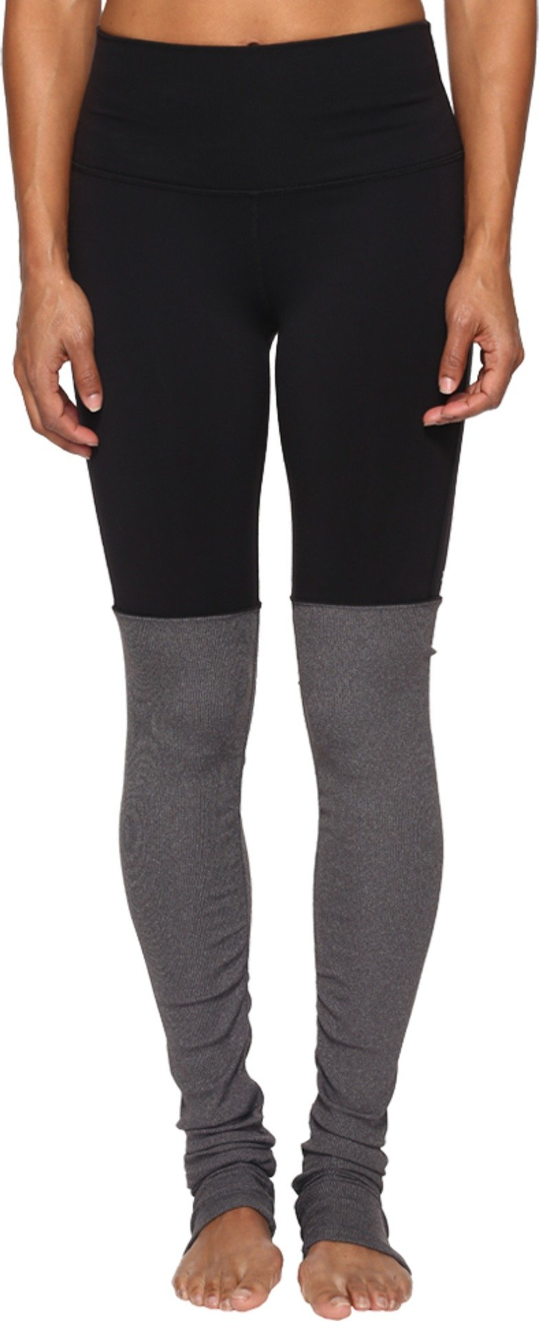 ALO Women's High Waisted Goddess Leggings Black/Stormy Heather X-Small 33 by ALO Sport (Image #1)