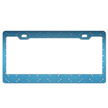 Amazon.com: Customized Frames Dog Paws License Plate Frame for Pet ...
