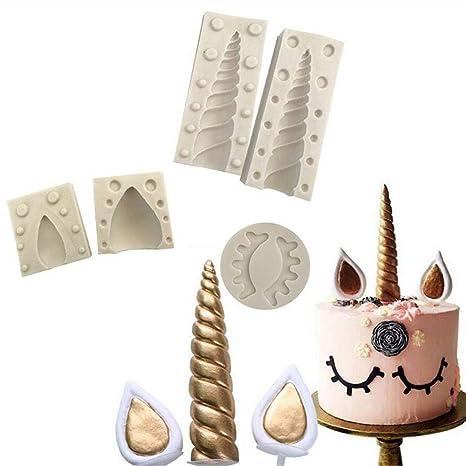 Molde de silicona unicornio/ceja/oreja, arcilla fondant Candy Mold, colgante molde