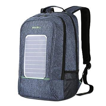 Mochila con Cargador Solar para Hombres a Prueba de Agua ...