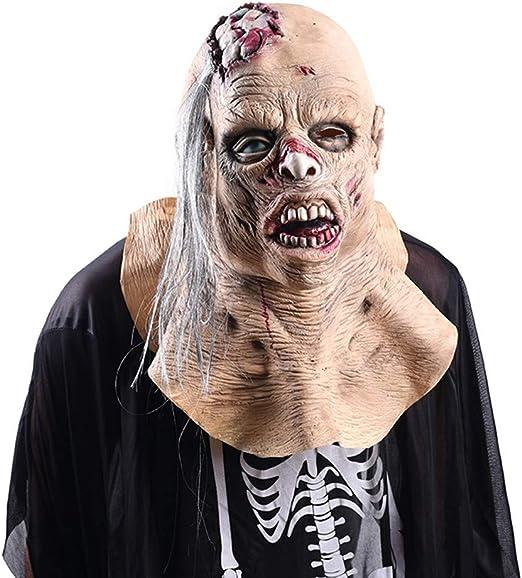 QCHNES Máscara de Halloween Zombie Máscara de látex Resident Evil ...