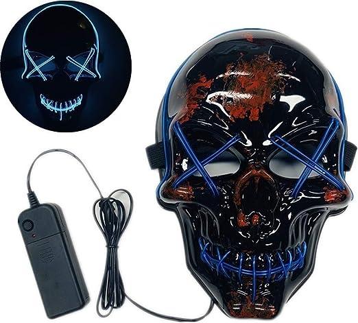 Máscara De Purga De Halloween LED, Máscara De Iluminación LED De ...