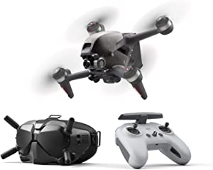 DJI FPV Combo - First-Person View Drone UAV Quadcopter with 4K Camera, S Flight Mode, Super-Wide 150° FOV, HD Low-Latency Transmission, Emergency Brake and Hover, Gray