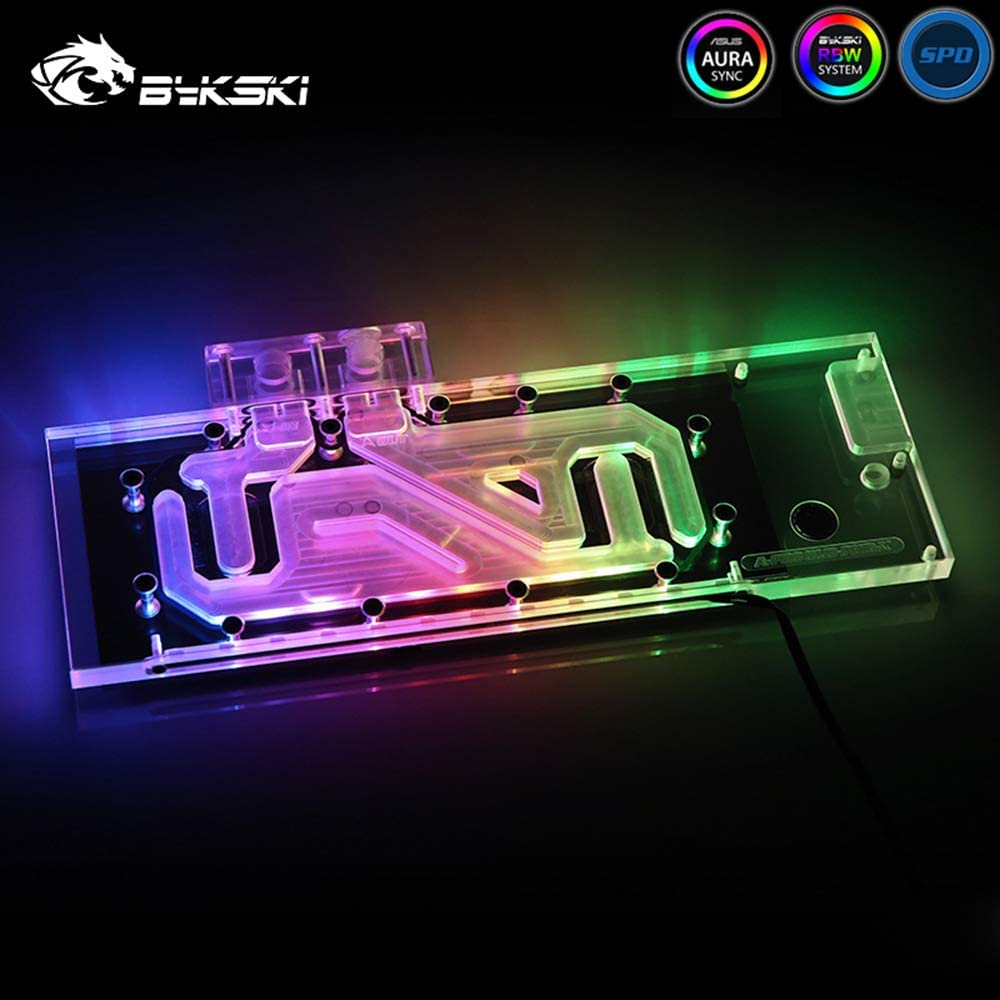 Bykski GPU Copper RBW LED Water Cooling Block for AMD Reference Design PRO Duo Polaris MBA Retail