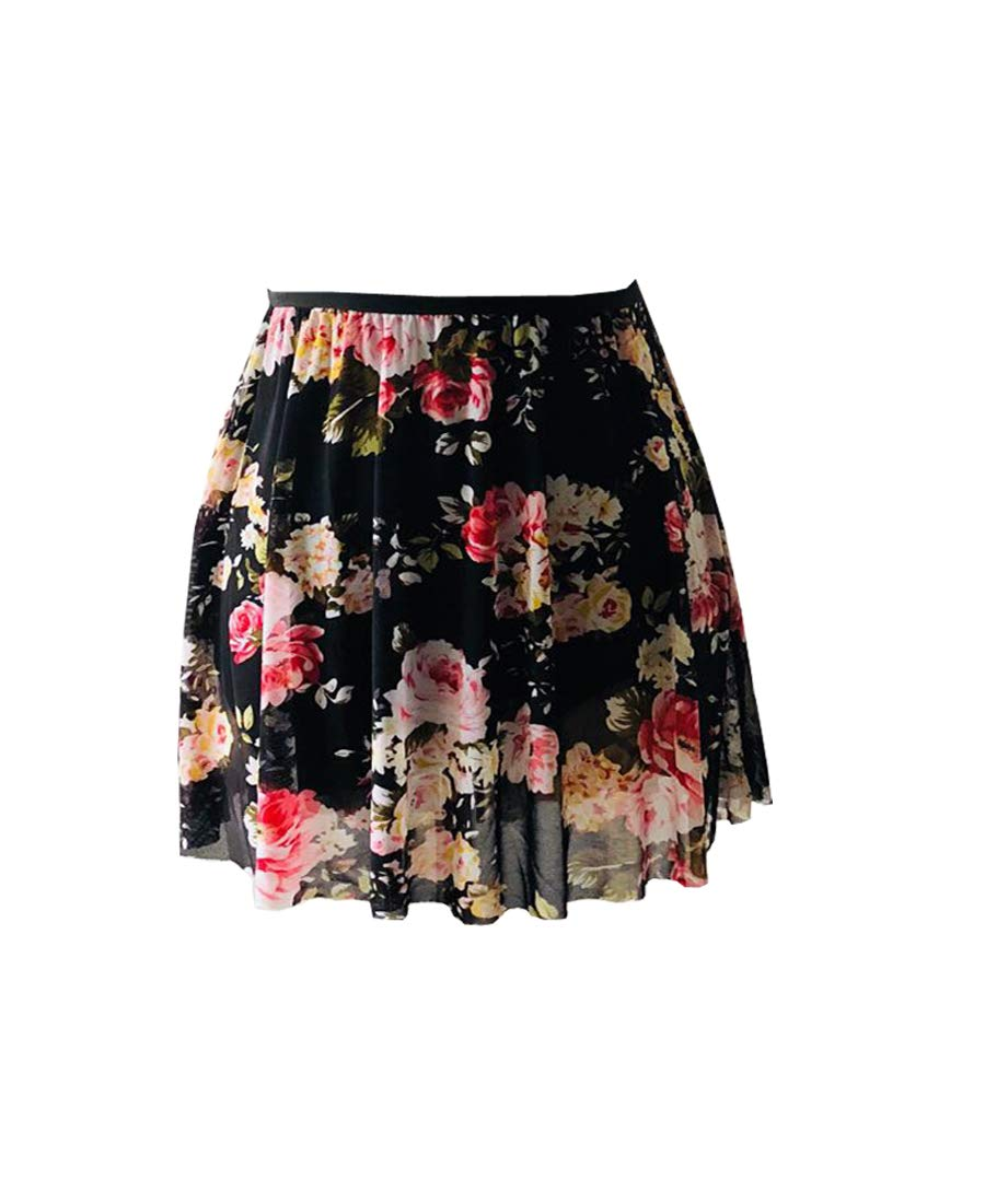 Limiles レディース バレエダンススカート B07JPLBHF4 Small|Floral 1 Floral 1 Small
