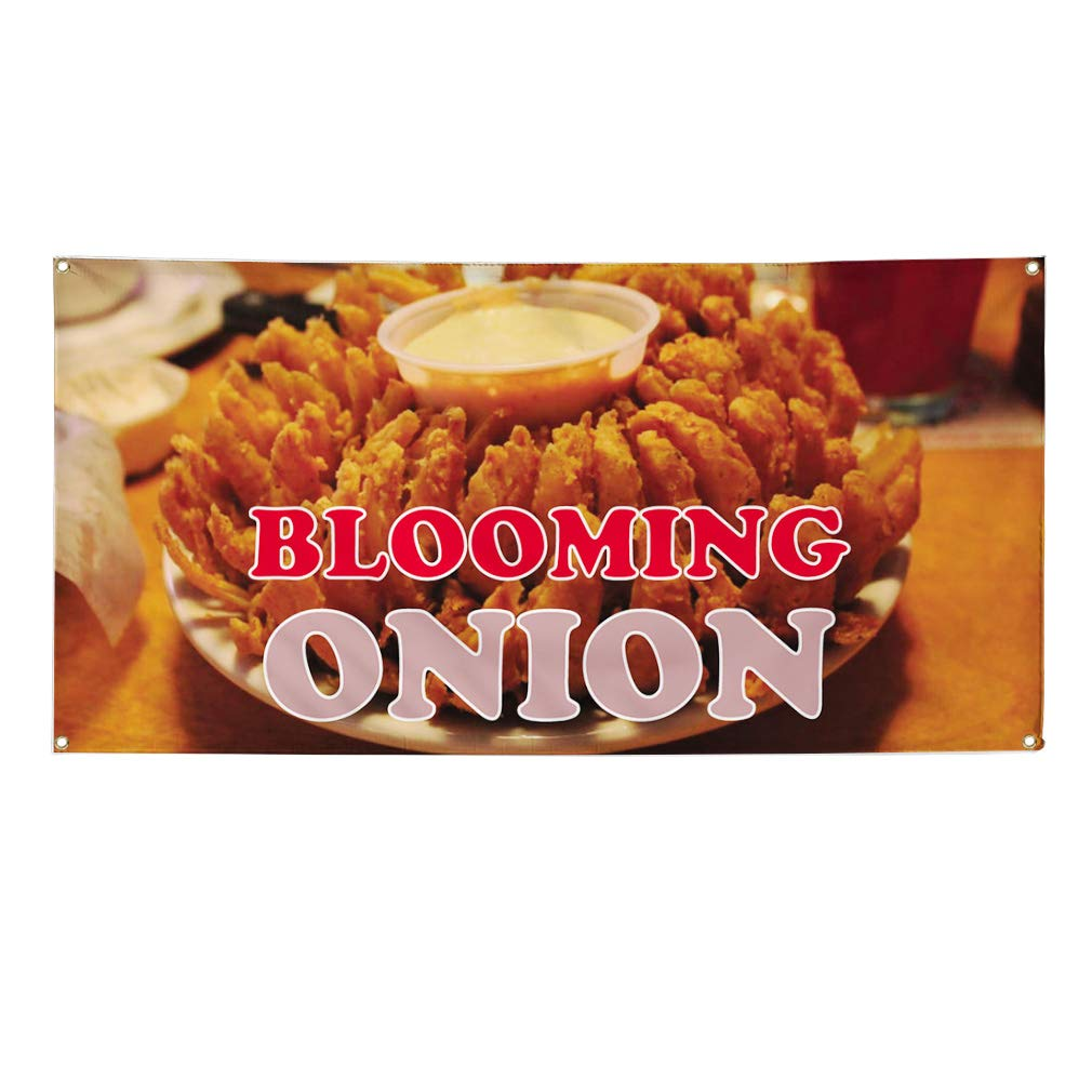 Vinyl Banner Sign Blooming Onion #1 Style C Business Marketing Advertising Brown Multiple Sizes Available 44inx110in 8 Grommets One Banner