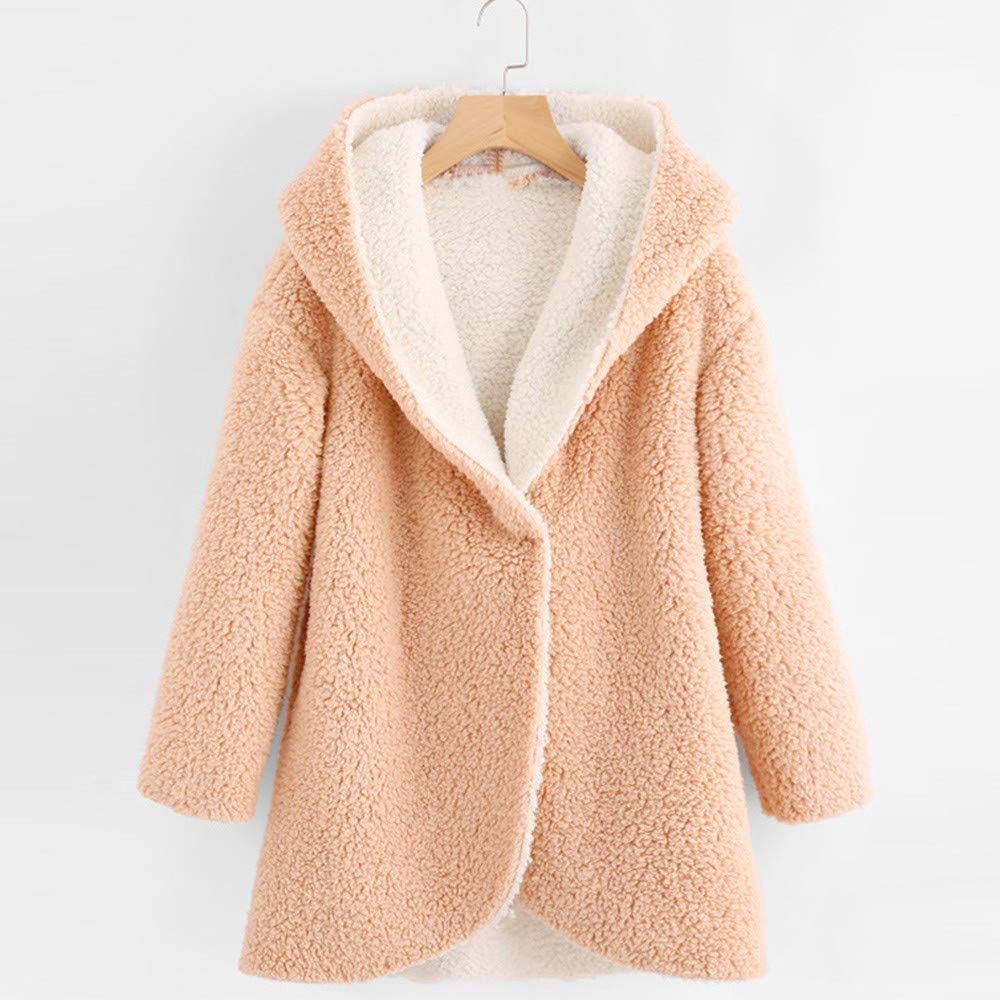Amazon.com: Womens Coats Winter Besde Womens Fashion Solid Warm Plush Lightweight Outwear Curved Hem Longline Faux Fur Sherpa Fleece Hoodie Coat: Sports & ...