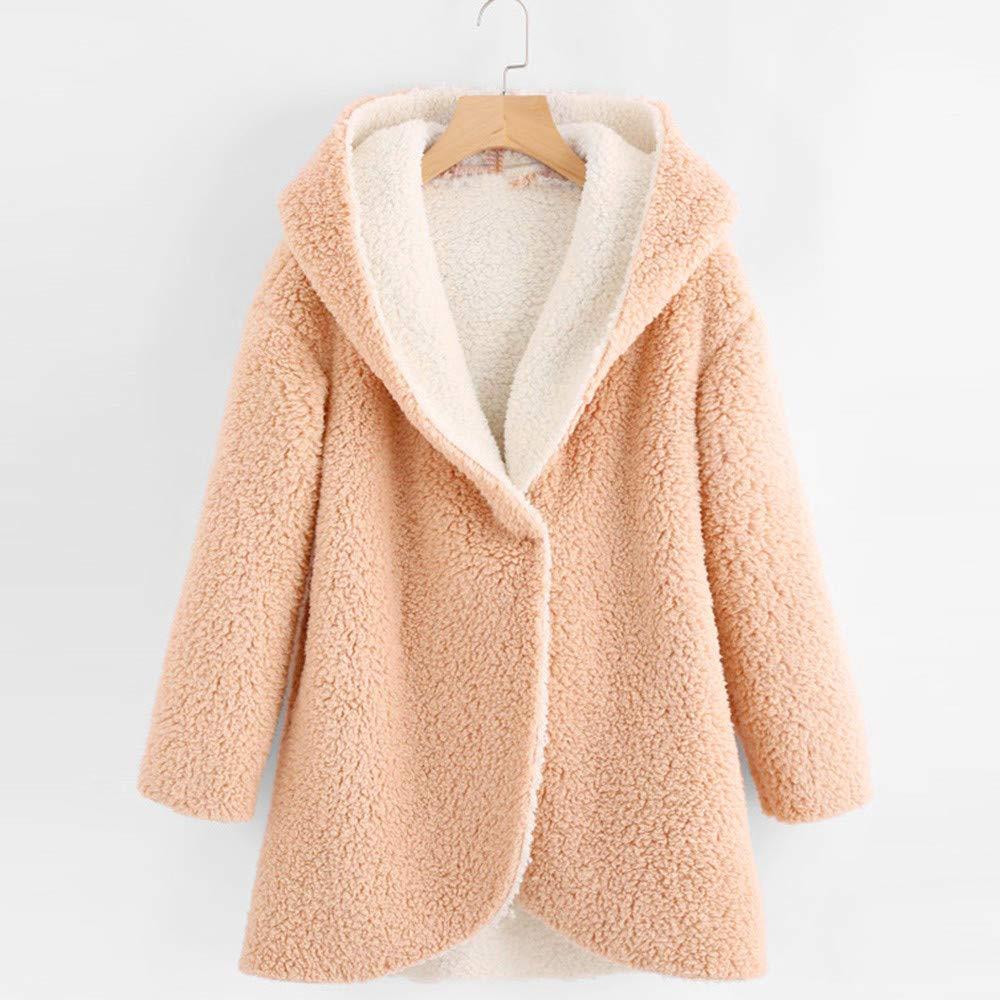 Amazon.com: Dacawin Winter Sale-Womens Fashion Curved Hem Long Line Faux Fur Sherpa Fleece Hoodie Coat: Kitchen & Dining
