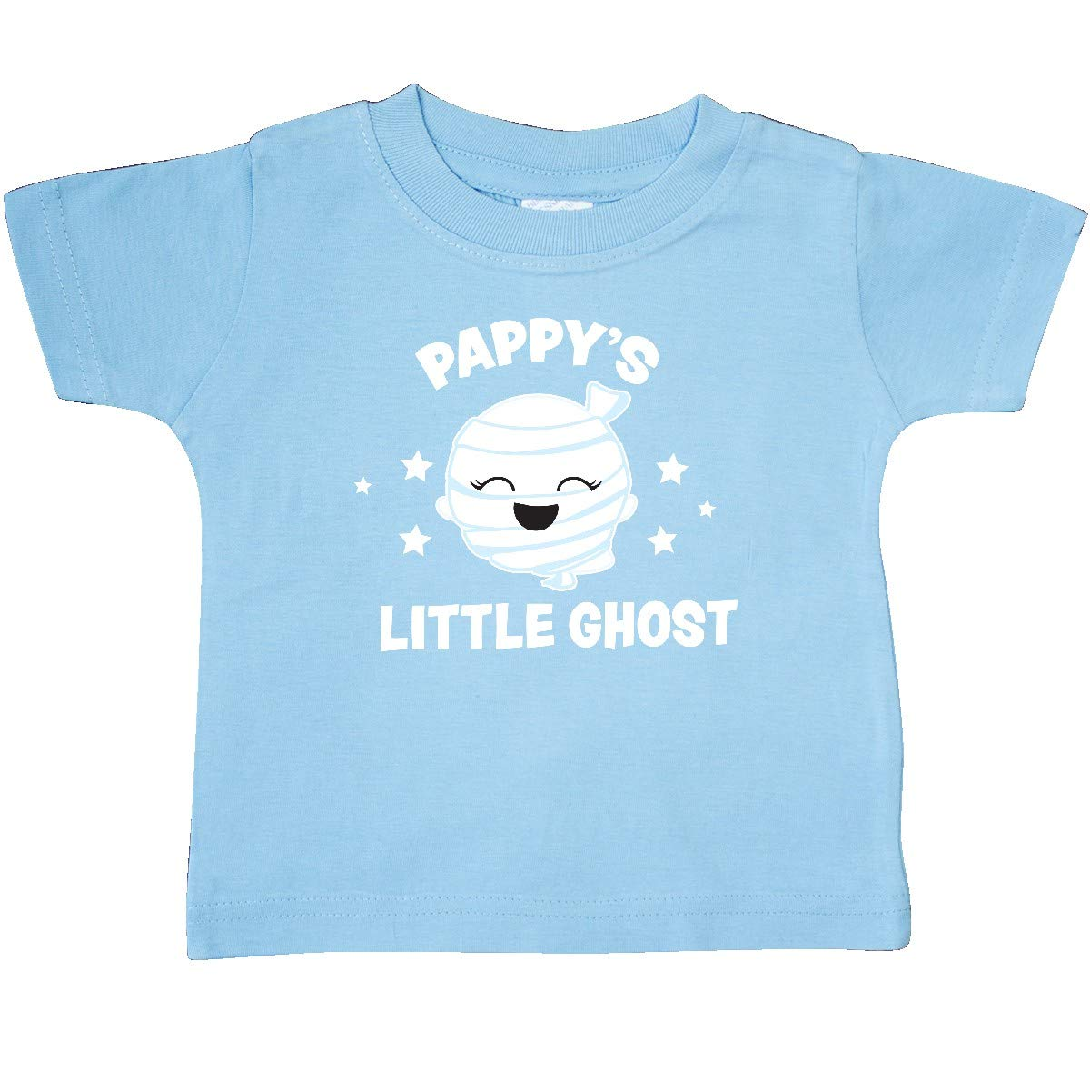 inktastic Cute Pappys Little Ghost with Stars Baby T-Shirt