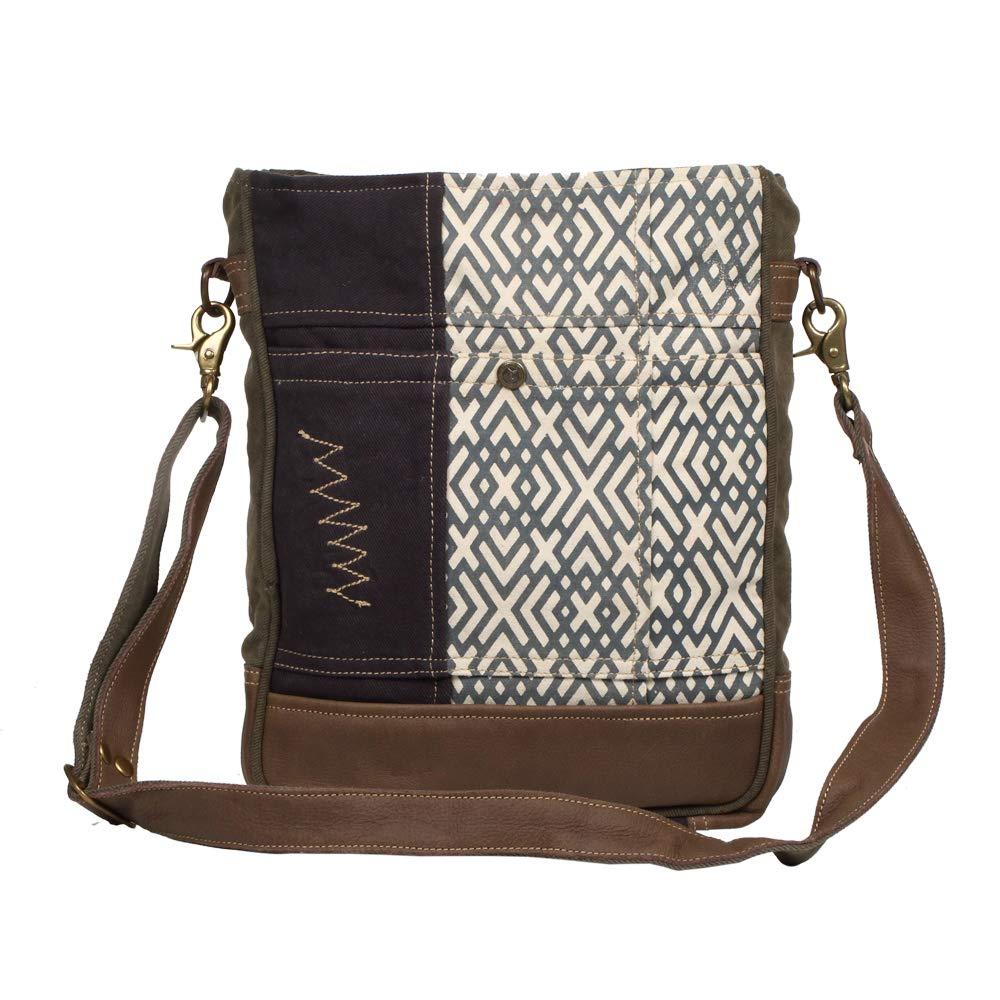 Myra Bag Designer X Upcycled Canvas Shoulder Bag S1233