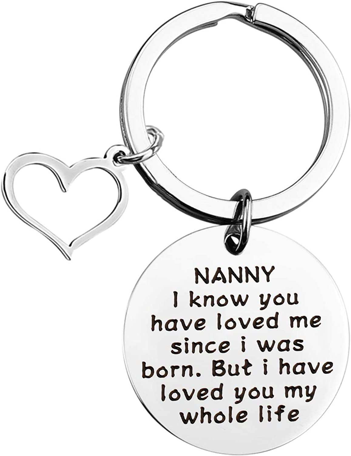 KUIYAI Nanny Gift Grandmother Gift Mother/'s Day Gift Grandmom Birthday Gift Nanny I Know You Have Loved Me Since I Was Born but I Have Loved You My Whole Life