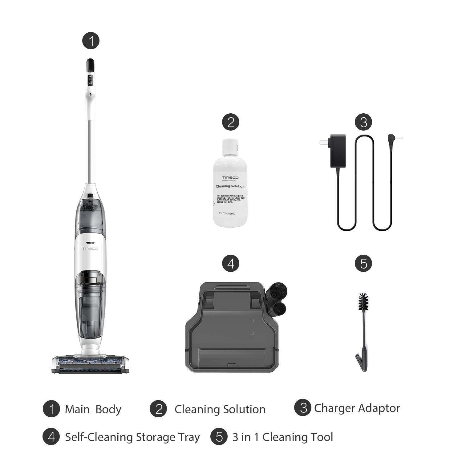 Tineco iFloor Cordless Wet Dry Vacuum Cleaner Powerful and Lightweight Hard Floor Washer with Self-Cleaning Brush by Tineco (Image #6)