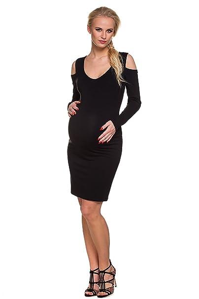 adfeec40f801 My Tummy Vestito Premaman Rita Nero S (Small) Abbigliamento Premaman Abiti  Eleganti Donne Incinte
