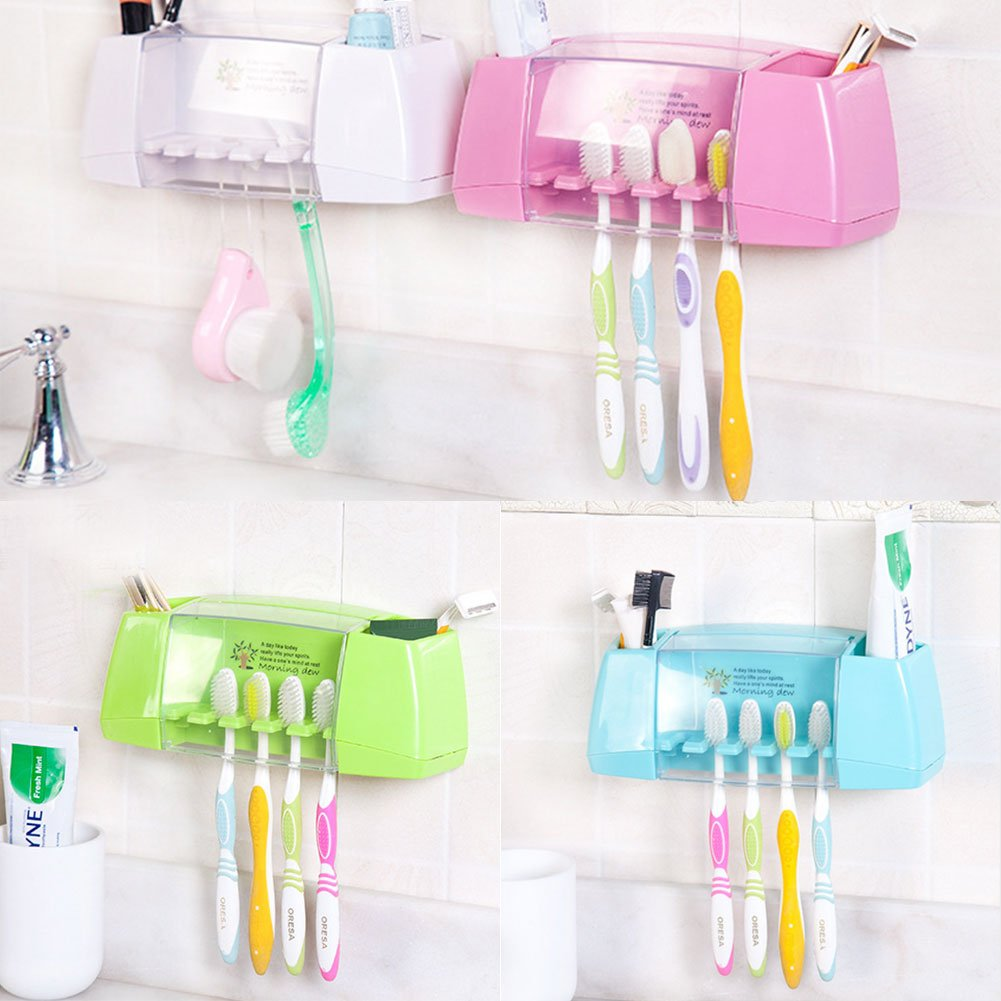attachmenttou Multifunctional Suction Toothbrush Holders Storage Rack Bathroom Accessories Msmask