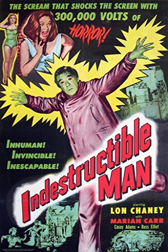 Indestructible Man Lon Chaney Jr Movie Poster 24x36 inch