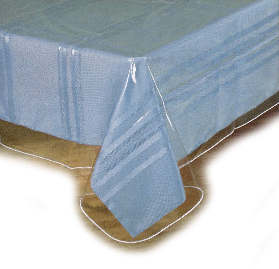 """SOFINNI Clear Plastic Tablecloth Protector, Table Cloth Vinyl (54"""" x 72"""")"""