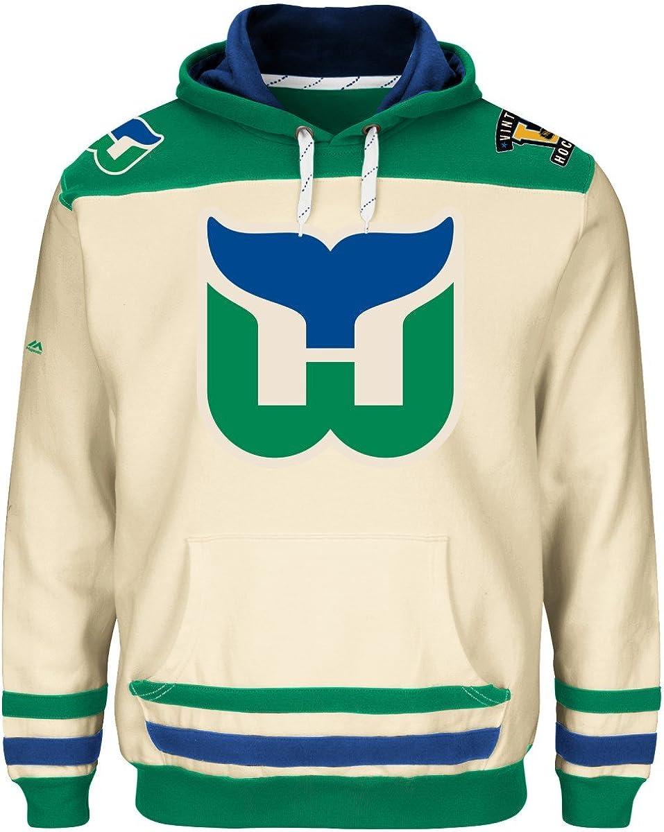 Amazon Com Hartford Whalers Majestic Nhl Vintage Double Minor Hooded Men S Sweatshirt Clothing