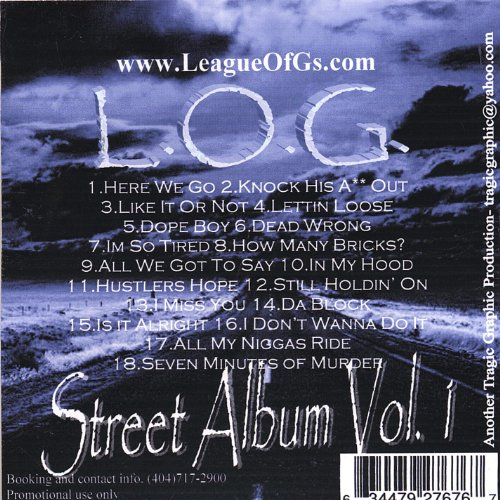 L.O.G Street Album Vol. 1 for sale  Delivered anywhere in USA