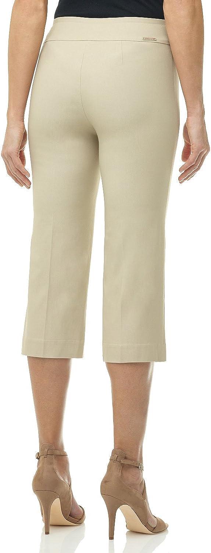 Rekucci Pantaloni Pinocchietto da Donna Senza Chiusure e Bottoni Decorativi