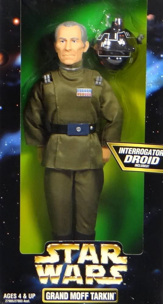 Star Wars Kenner Year 1997 Action Collection 12 Inch Tall Fully Poseable Figure with Authentically Styled Outfit and Accessories - Grand Moff Tarkin with Interrogator Droid