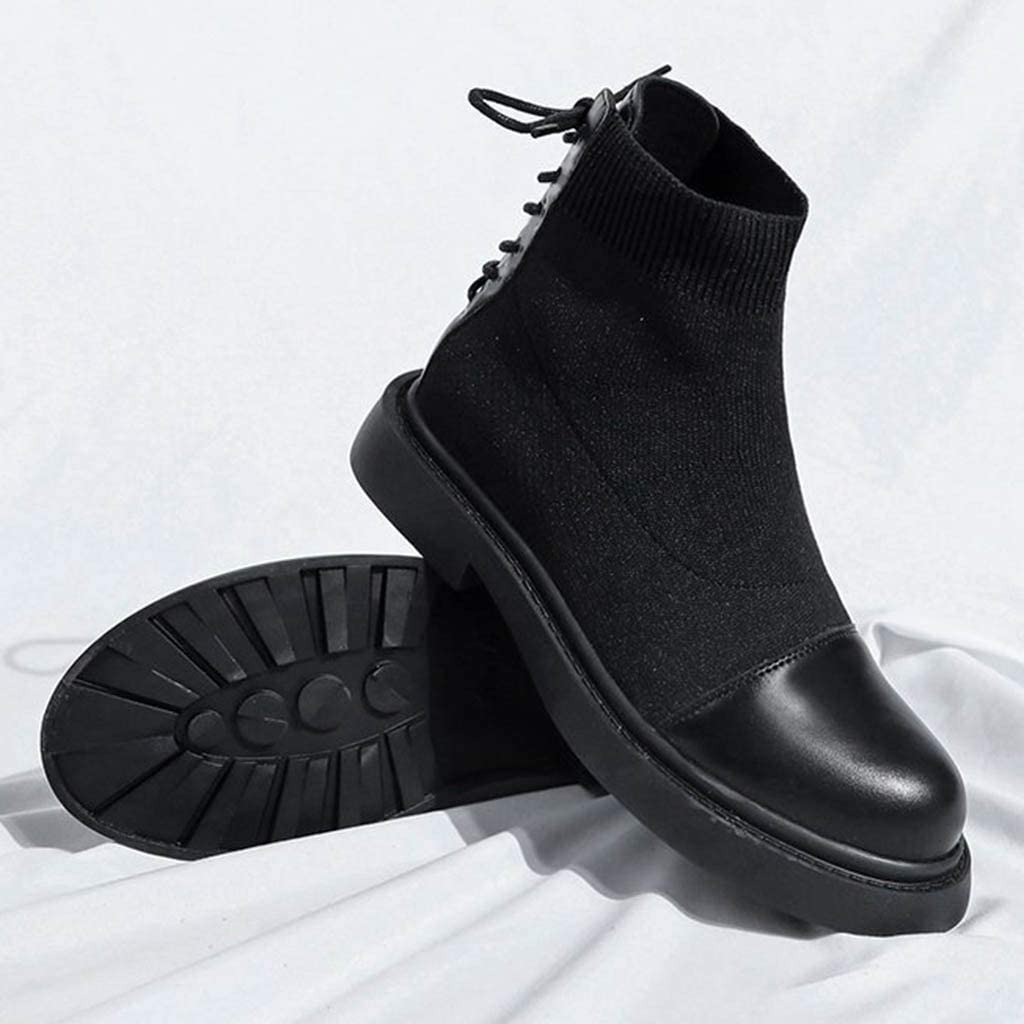 Winter Ladies Booties Women Ankle Boots Fashion Elastic Short Flat Shoes Women Back Tie Boots Miuye yuren