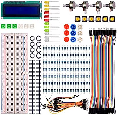 For Raspberry pi 3 Arduino kuman Basic Starter Kit with LCD Screen Module Breadboard,Resistors Rotary Potentiometer Compatible w// UNO R3 pro mini atmega due Mega Nano Robot K64