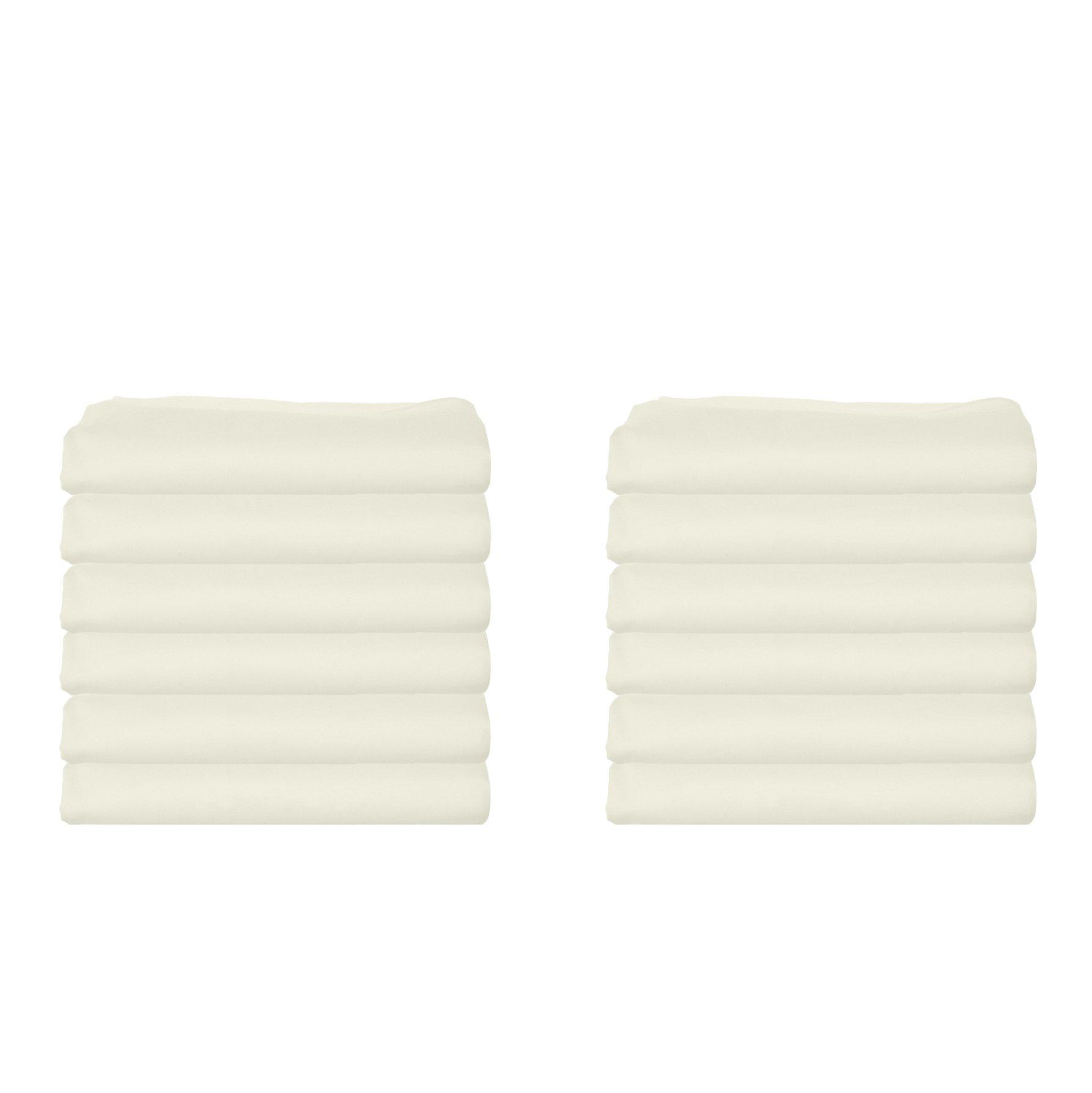 bkb Daycare 12 Piece Portable Crib Sheets, Ecru