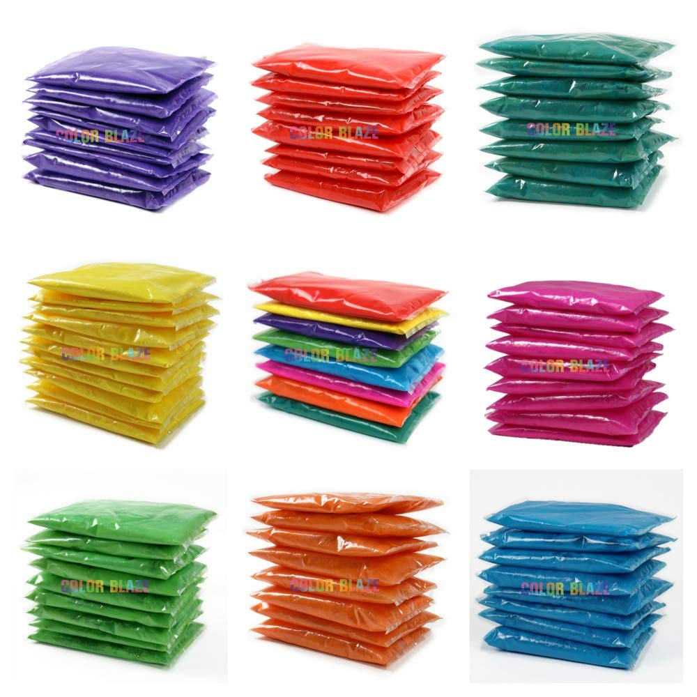 Color Powder Packets - 120 Assorted Individual Color Powder Packets