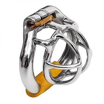599f0113a87 Happygo petit mini en acier inoxydable mâle pénis cage ceinture de chasteté  pour hommes chasteté conception
