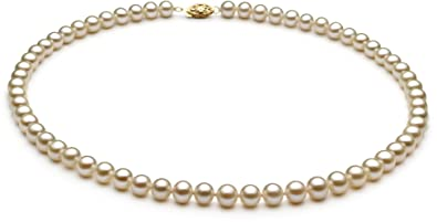 25511ea4496ba PearlsOnly - White 6-7mm AA Quality Freshwater Cultured Pearl Necklace