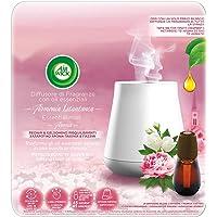 Airwick Diffuser voor etherische oliën, 1 verpakking met een kamergeur, navulverpakking voor pioenroos en jasmijn.