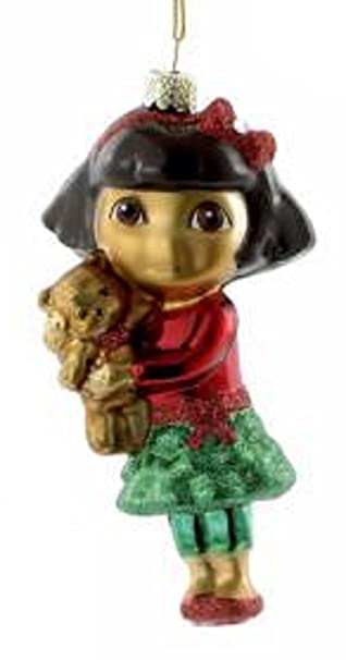 Amazoncom 425 Dora the Explorer with Teddy Bear Glass Christmas