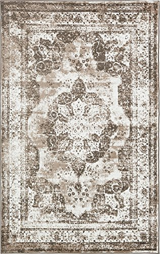 Unique Loom Sofia Collection Light Brown 5 x 8 Area Rug (5′ x 8′)
