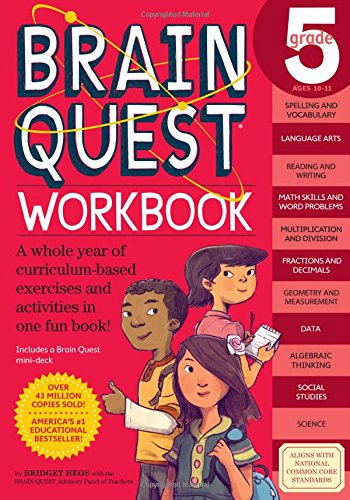 Brain Quest Workbook: Grade 5 (Brain Quest Workbooks)
