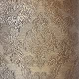 76 sq.ft Made in Italy Portofino European wallcoverings modern embossed Vinyl Wallpaper bronze metallic vintage design victorian large damask pattern faux metal textured rolls Baroque Style wallpapers