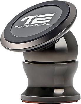 TechElec Soporte Movil Coche, Sostenedor Magnético de Teléfonos Móviles [Rotación de 360 grados] para Smartphone y Dispositivo GPS – Instalación en cualquier Superficie Plana: Amazon.es: Electrónica