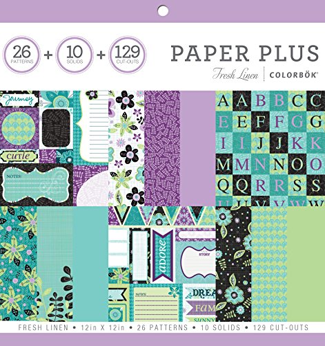 ColorBok 68276B Paper Plus Pad Fresh Linen, 12