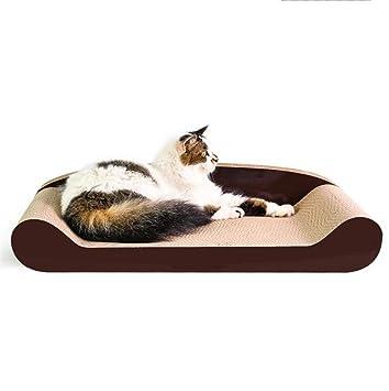 MO Muebles para Gatos, Almohadillas para rascar Sofá Grande Papel Corrugado Pulido Pata Suministros para Gato de 70 cm Adecuado para Gatos gordos: ...