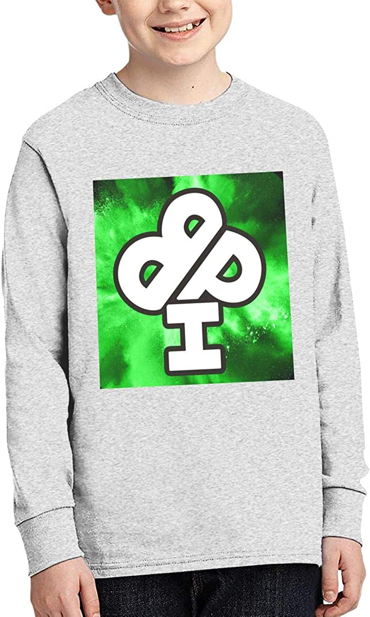 XTYND556 Ireland Boys Productions Cotton Crew Neck Long Sleeve Graphic T-Shirt for Boys Girls