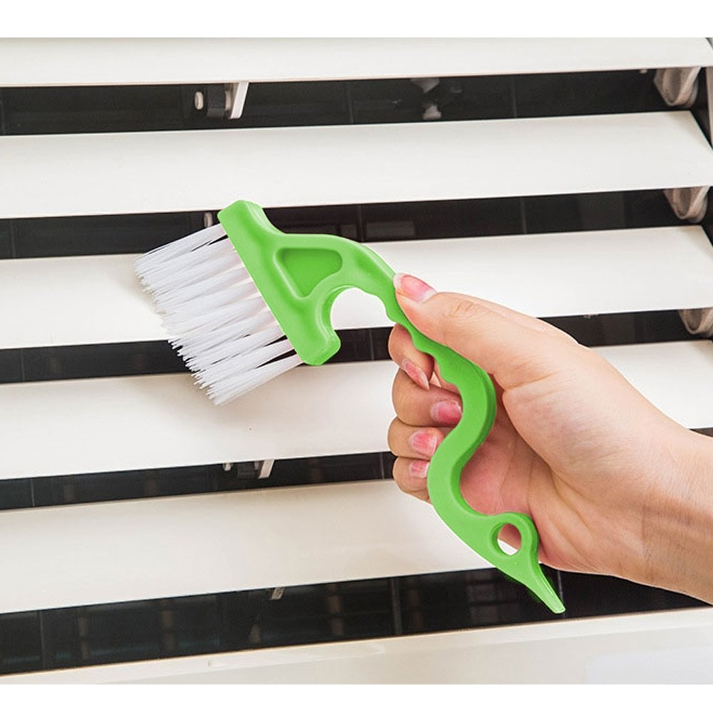 YuCool Window or Sliding Door Track Cleaning Brush 2PCS Random Color Hand-held Groove Gap Shipping by FBA Total 5PCS 2-in-1 Windowsill Sweeper Window Blind Duster