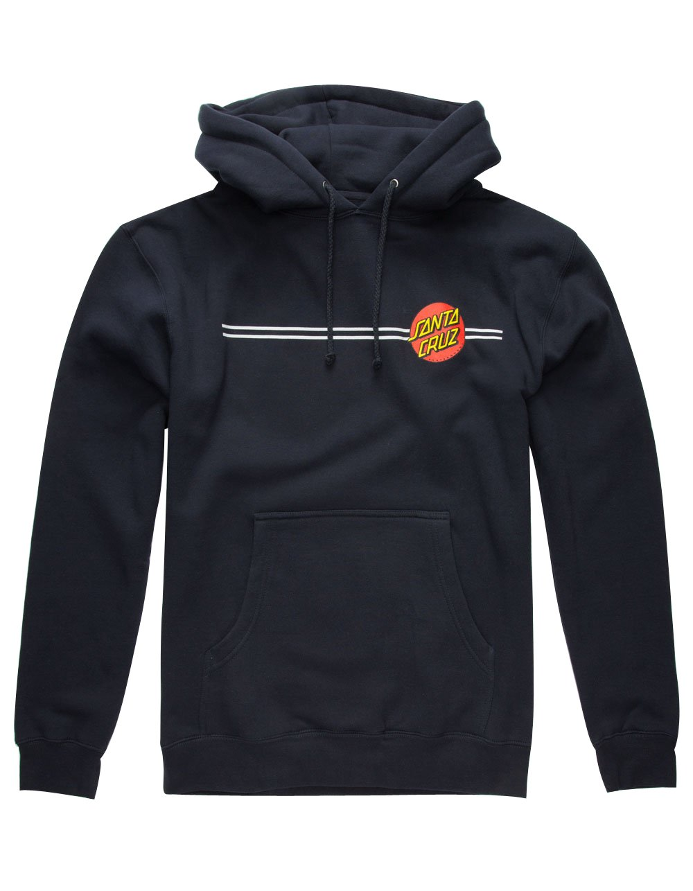 Santa Cruz Skateboards Classic Dot Hooded Pullover Sweatshirt Large, Black